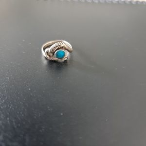Snake Ring with Blue Stone